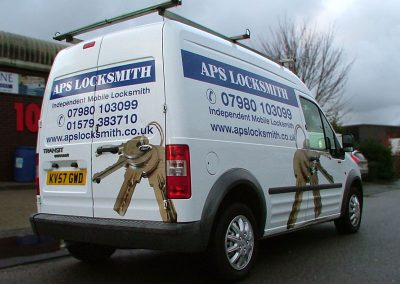 South-West-Signs-APS-Locksmith-Vehicle-Graphics