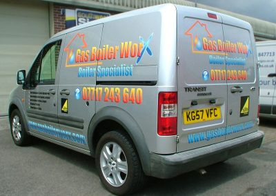 South-West-Signs-Gas-Boiler-Worx-Vehicle-Graphics