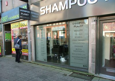 South-West-Signs-Shampoo-Planet-Window-Graphics