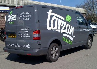 South-West-Signs-Tarzan-Tables-Vehicle-Graphics