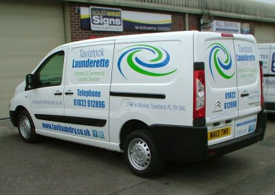 South-West-Signs-Tavistock-Launderette-Vehicle-Graphics